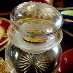 VINTAGE Lidded Cut Glass Container